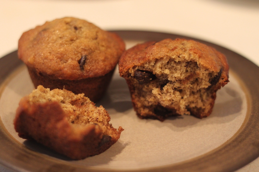 Quick and Easy Chocolate Chip Banana Muffins