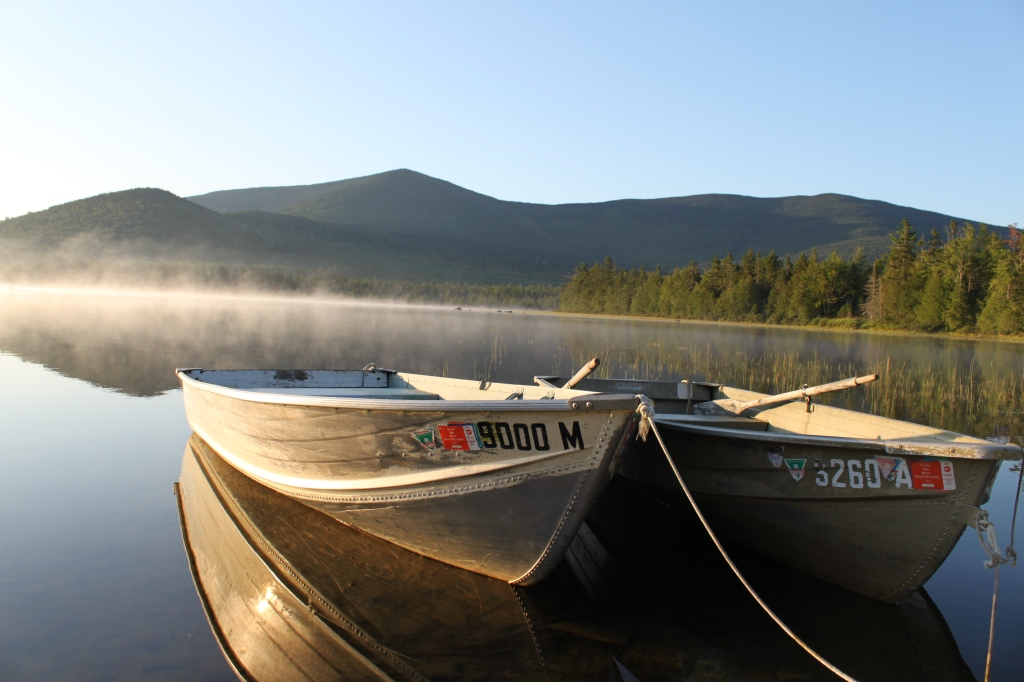 west branch pond row boats