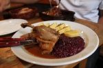 duck and red cabbage (Prague)