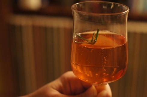 pomegranate-rosemary royale