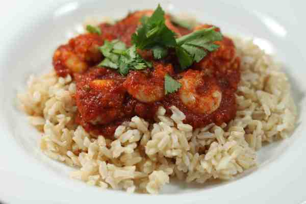 chipotle shrimp on rice
