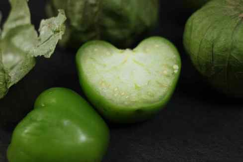 sliced tomatillo