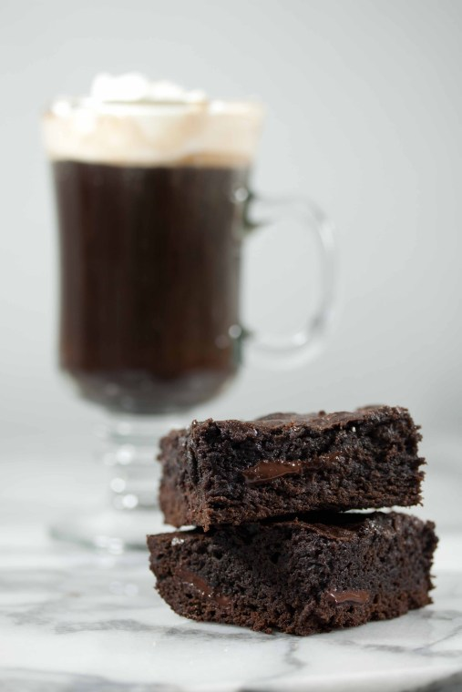 Brownies and Irish Coffee