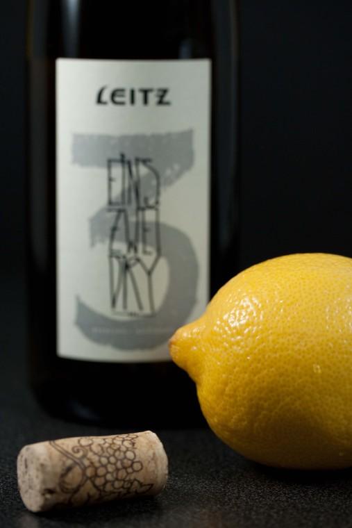 dry Riesling and lemon