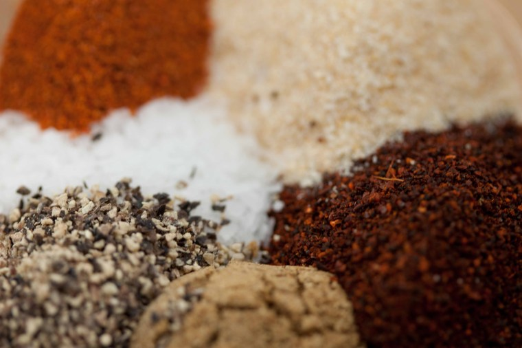 chili powder, garlic powder, cayenne, cumin, salt, black pepper