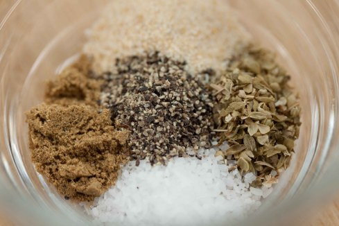 oregano, cumin, salt, pepper, garlic powder