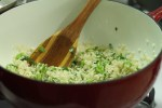 coating arborio rice with butter