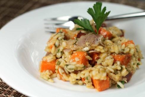 prosciutto sweet potato risotto