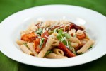 Penne with Roasted Tomatoes, Garlic, and White Beans